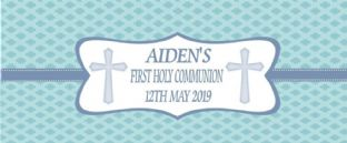Boy Communion Chocolate Candy Bar Wrapper Design 3